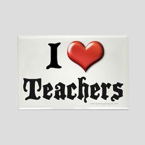 I Heart (Love) Teachers Rectangle Magnet