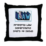 Property lawyer Throw Pillow