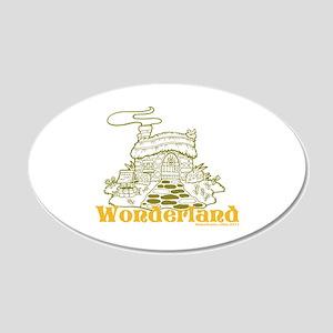 Wonderland Cottage 22x14 Oval Wall Peel