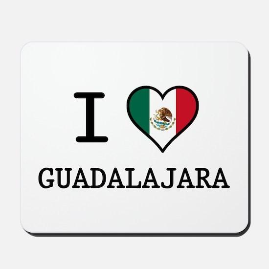 I Love Guadalajara Mousepad