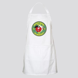 Welcome Back to School Apple Apron