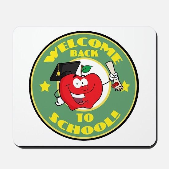 Welcome Back to School Apple Mousepad