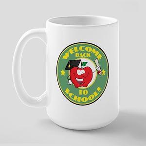 Welcome Back to School Apple Large Mug