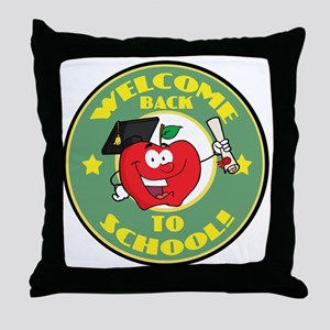 Welcome Back to School Apple Throw Pillow