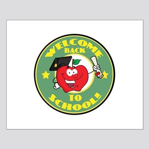 Welcome Back to School Apple Small Poster