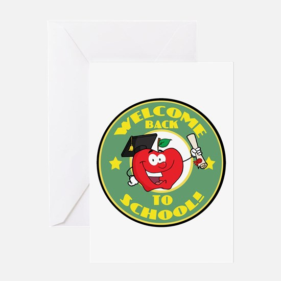 Welcome Back to School Apple Greeting Card