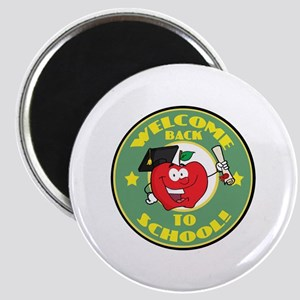 Welcome Back to School Apple Magnet
