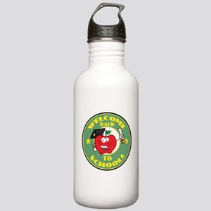 Welcome Back to School Apple Stainless Water Bottl
