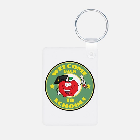 Welcome Back to School Apple Keychains