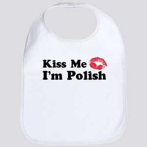 Kiss Me I'm Polish Bib
