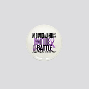 My Battle Too Hodgkin's Lymphoma Mini Button