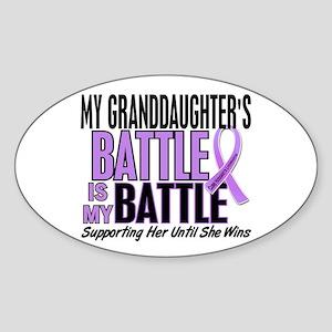 My Battle Too Hodgkin's Lymphoma Sticker (Oval)