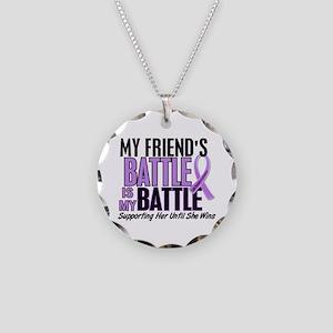 My Battle Too Hodgkin's Lymphoma Necklace Circle C