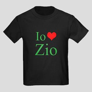 I Love Uncle (Italian) Kids Dark T-Shirt