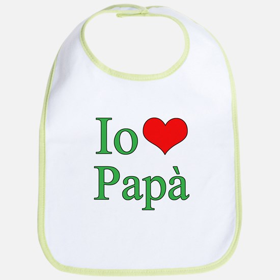 I Love Dad (Italian) Bib