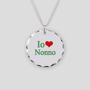 I Love Grandpa (Italian) Necklace Circle Charm