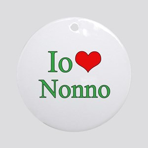 I Love Grandpa (Italian) Ornament (Round)