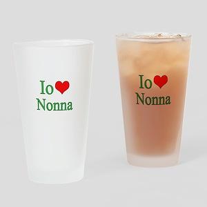 I Love Grandma (Italian) Pint Glass
