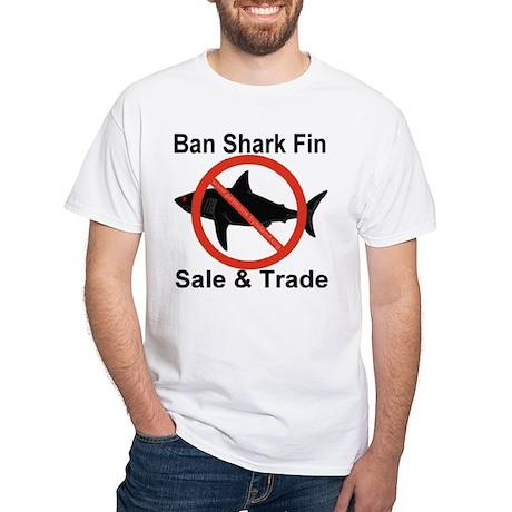 Ban Shark Fin Sale & Trade White T-Shirt