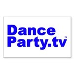 DanceParty.tv Rectangle Sticker
