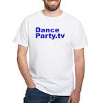 DanceParty.tv White T-Shirt