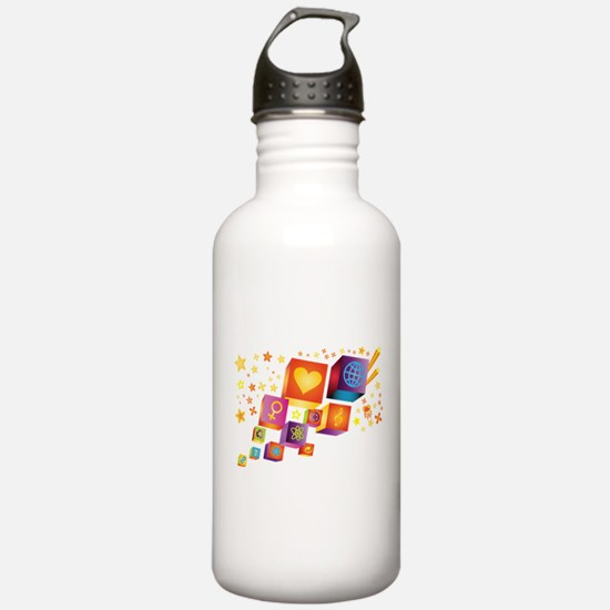 Fun Icons Water Bottle