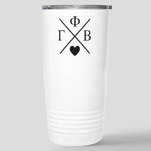 Gamma Phi Beta Cr 16 oz Stainless Steel Travel Mug