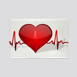heart beat Rectangle Magnet