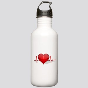 heart beat Stainless Water Bottle 1.0L