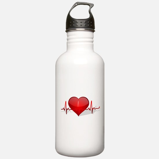heart beat Water Bottle