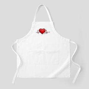 heart beat Apron