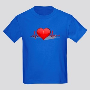 heart beat Kids Dark T-Shirt