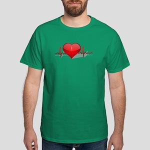 heart beat Dark T-Shirt