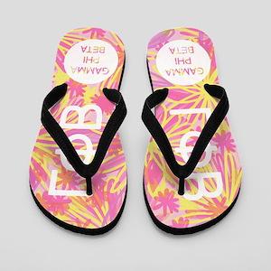 Gamma Phi Beta Pink Flip Flops