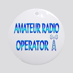 Amateur Radio Ornament (Round)