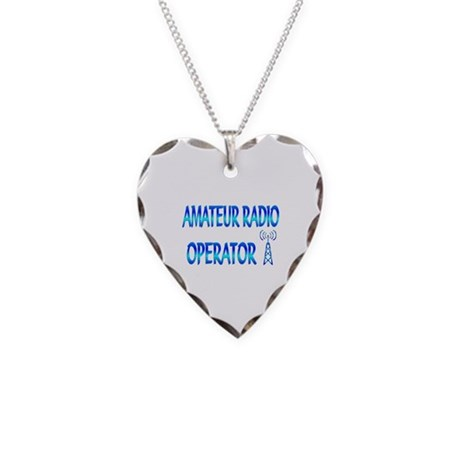 Amateur Radio Necklace Heart Charm