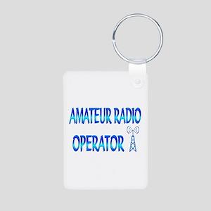 Amateur Radio Aluminum Photo Keychain