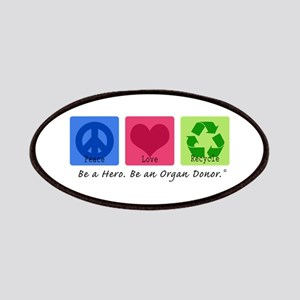 Peace Love Recycle Patches