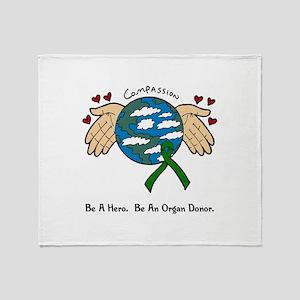 Donor World II Throw Blanket