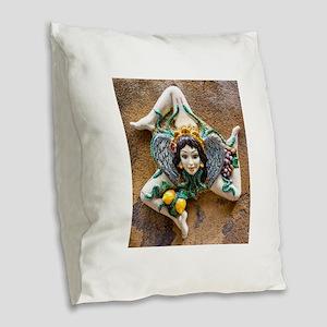 Trinacria Burlap Throw Pillow