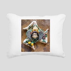 Trinacria Rectangular Canvas Pillow