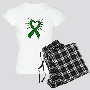 Donor Heart Ribbon Women's Light Pajamas