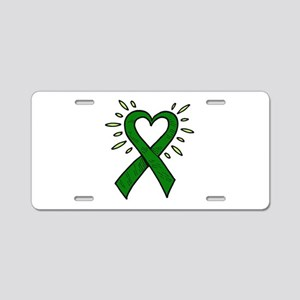 Donor Heart Ribbon Aluminum License Plate