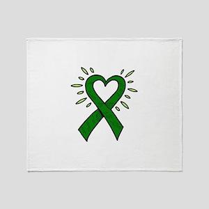 Donor Heart Ribbon Throw Blanket