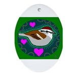chipping sparrow Oval Ornament