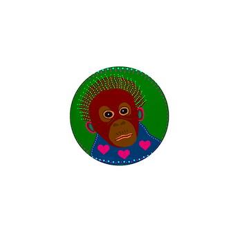 Orangutan Mini Button