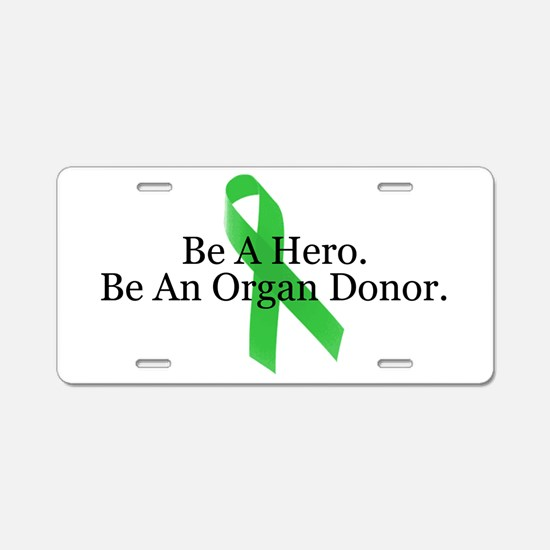 Bold Organ Donor Aluminum License Plate