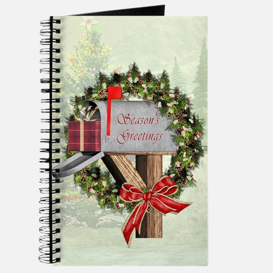 Season's Greetings Postbox Wreath Journal