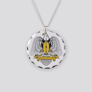 South Sudan Coat of Arms Necklace Circle Charm