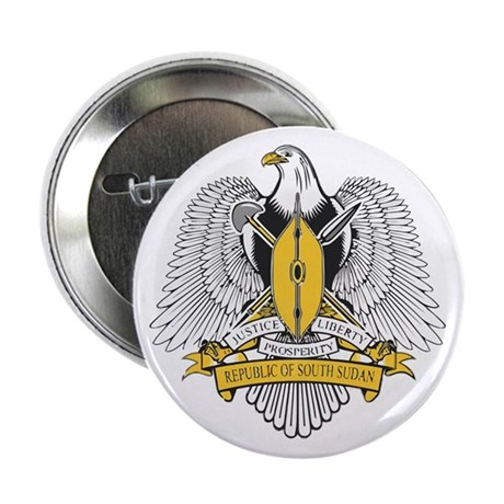 """South Sudan Coat of Arms 2.25"""" Button"""